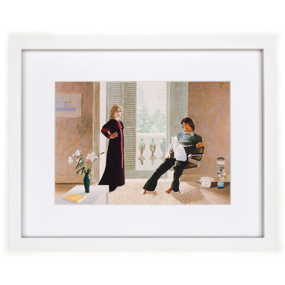 David Hockney Mr and Mrs (framed print)