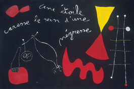 Joan Miró: A Star Caresses the Breast of a Negress (Painting Poem)