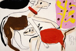 Roger Hilton: Two Dogs