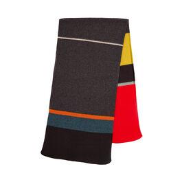 Uneven stripe brushed blanket scarf