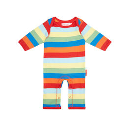Multi-stripe baby sleep suit