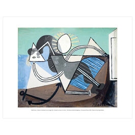 Pablo Picasso: Woman on the Beach mini print