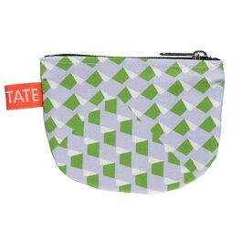 Laura Spring geometric purple and green purse