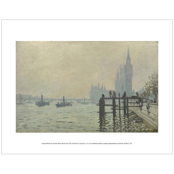 Monet The Thames Below Westminster (mini print)