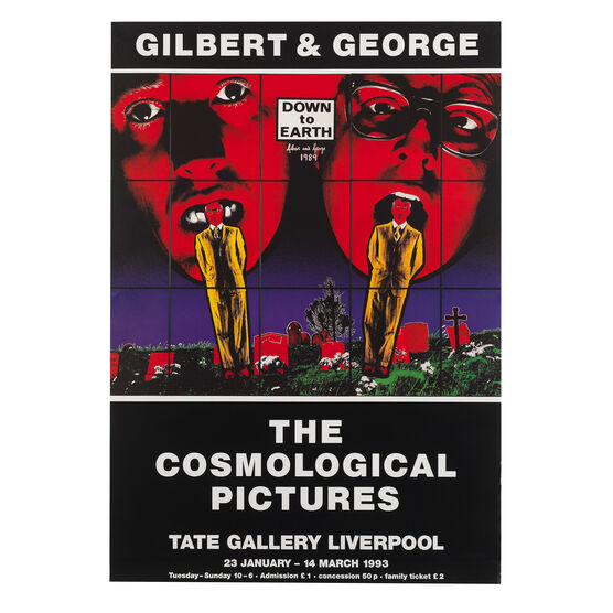 Gilbert & George: The Cosmological Picture, 1993 original exhibition poster