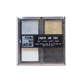 Metallic and monochrome chroma ink pad set