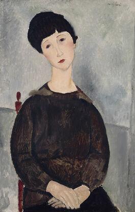 Modigliani: Black Hair (Young Dark-Haired Girl Seated)