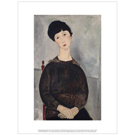 Modigliani  Black Hair (Young Dark-Haired Girl Seated) (exhibition print)