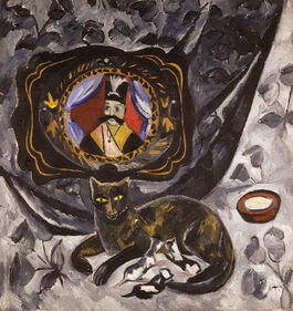 Goncharova: Cat and Tray