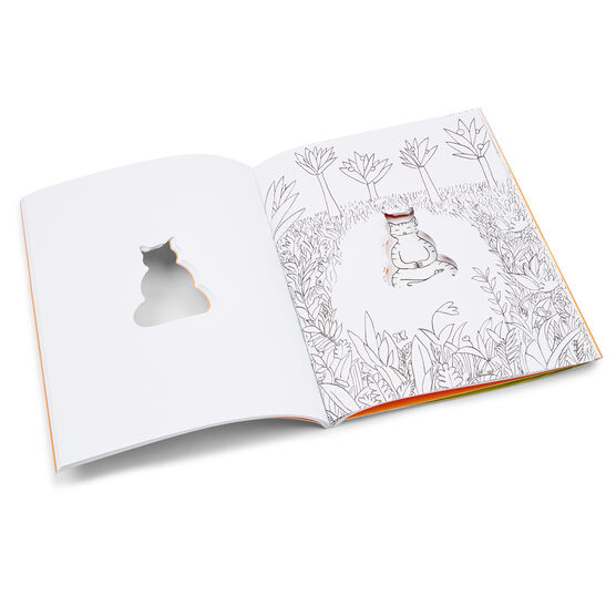 The Meditating Cat: A Zen Colouring Book