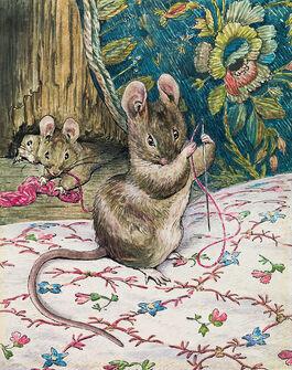 Helen Beatrix Potter: The Mice at Work: Threading the Needle
