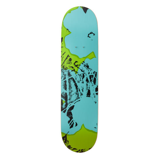 Warhol: Flowers (lime) skateboard triptych
