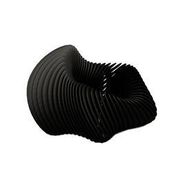 black 3D printed stretchy bracelet