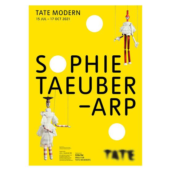 Sophie Taeuber-Arp exhibition poster