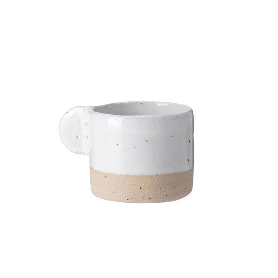 White ceramic espresso cup
