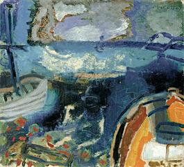Patrick Heron: Boats at Night