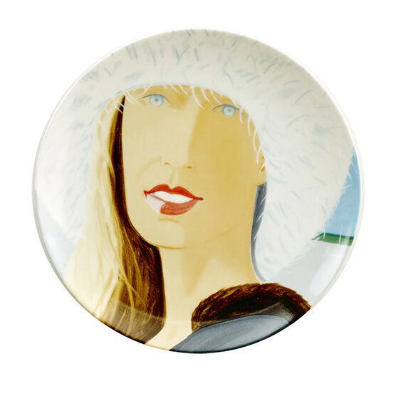 Alex Katz Jessica porcelain plate