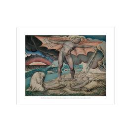William Blake Satan Smiting Job with Sore Boils mini print