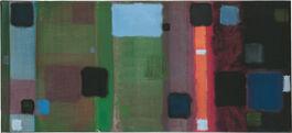 Patrick Heron: Horizontal Painting with Soft Black Squares