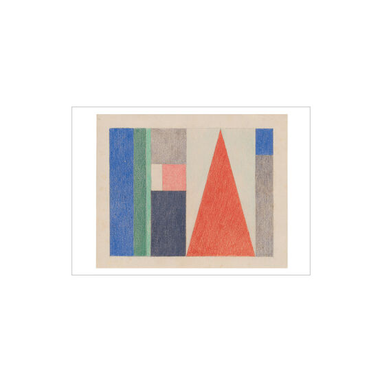 Sophie Taeuber-Arp Large Triangle: Vertical-Horizontal Composition greetings card