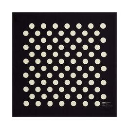 Margaret Howell black polka dot scarf