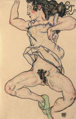 Egon Schiele: Reclining Woman with Green Shoes