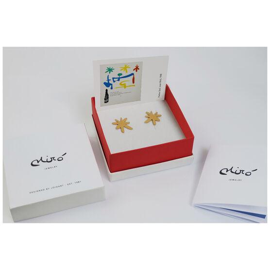 Joan Miró gold star stud earrings