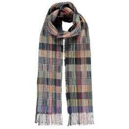 Multicolour waffle wool scarf