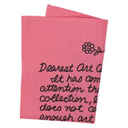 Guerrilla Girls Dear Art Collector handkerchief