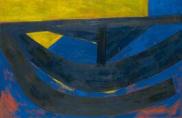 Barns-Graham: June Painting, Ultramarine and Yellow