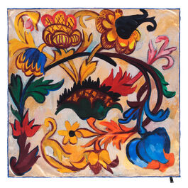 Natalia Goncharova The Ornament. Flowers (Mother of God triptych) silk scarf