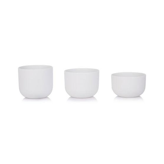 Bisque tealight holder trio