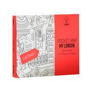 My London colouring pocket map