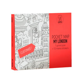 My London colouring pocket map