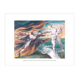 William Blake The Good and Evil Angels exhibition print