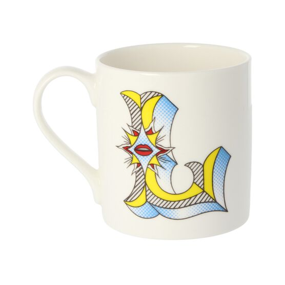 Alphabet of art mug - L
