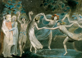 William Blake: Oberon, Titania & Puck with Fairies