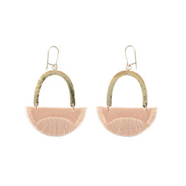 Linnea blush earrings