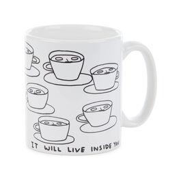 David Shrigley The Tea is Alive mug