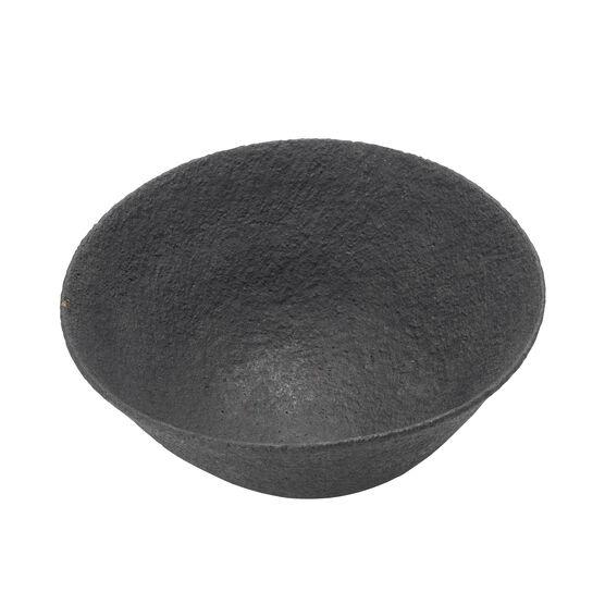 Textured black ceramic bowl
