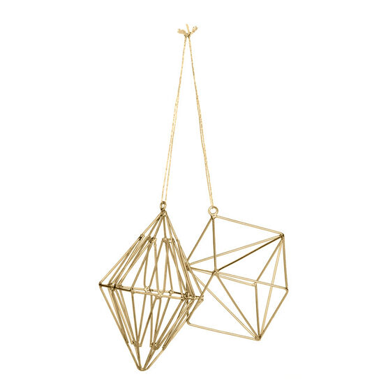 Brass geometric shape decoration