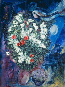 Chagall: Bouquet with Flying Lovers
