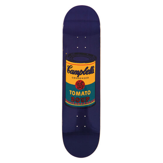 Warhol: Campbell`s Soup skateboard - teal