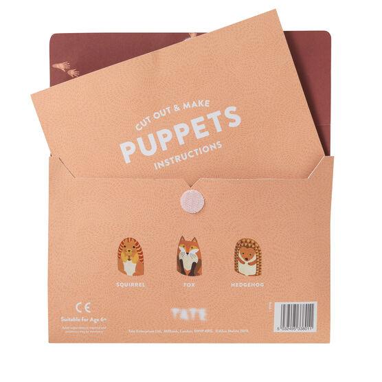 Cut out & make British animal puppets sewing kit