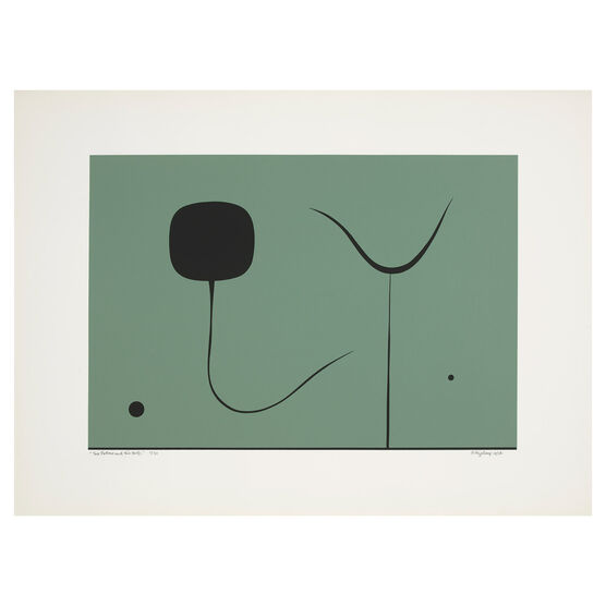 Paule Vézelay, Two Forms and Two Dots, 1976 limited edition