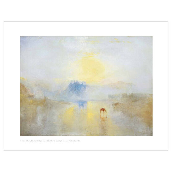 JMW Turner Norham Castle (mini print)