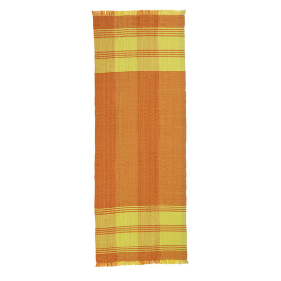 Lemon hand woven wool scarf