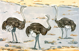 Lisa Milroy: Ostriches