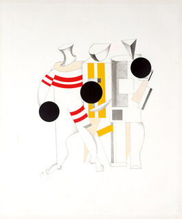 Lissitzky: 6. Sportsmen, from Figurines
