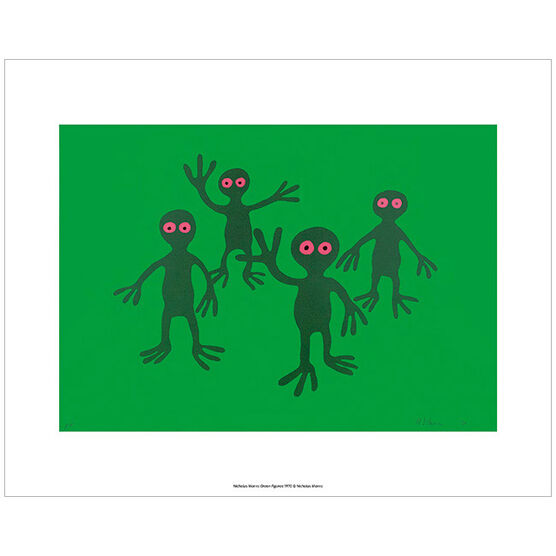 Nicholas Monro Green Figures (mini print)